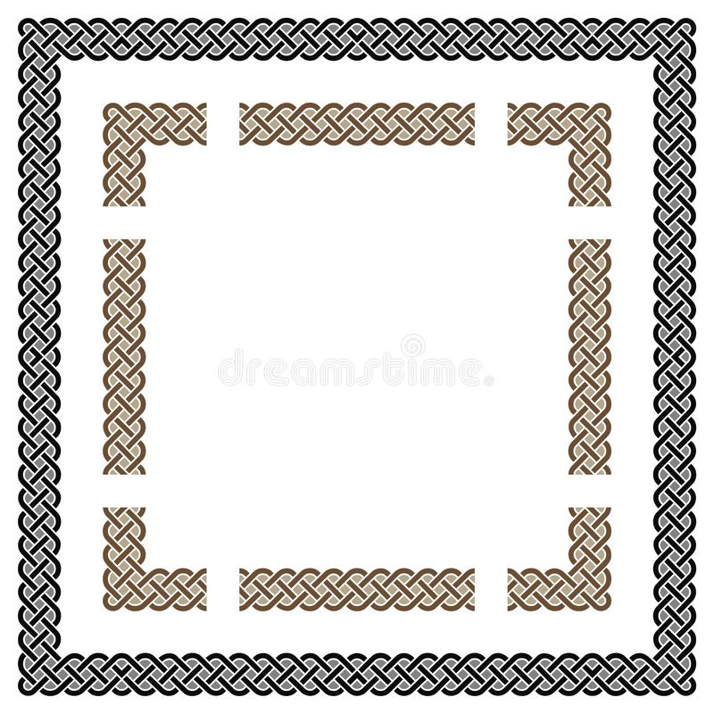 Vetor celta dos nós do quadrado ilustração stock