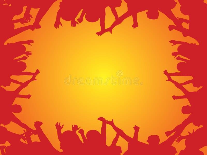 Vetor cheering da multidão ilustração do vetor