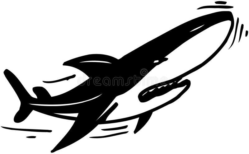 Vetor Clipart dos desenhos animados do tubarão do assassino fotos de stock royalty free