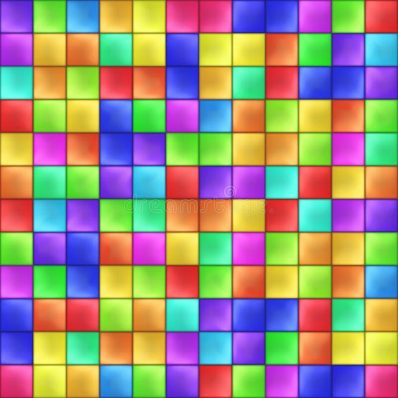 Vetor colorido abstrato do teste padrão de mosaico dos quadrados ilustração stock