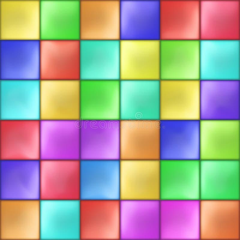 Vetor colorido abstrato do teste padrão de mosaico dos quadrados ilustração do vetor
