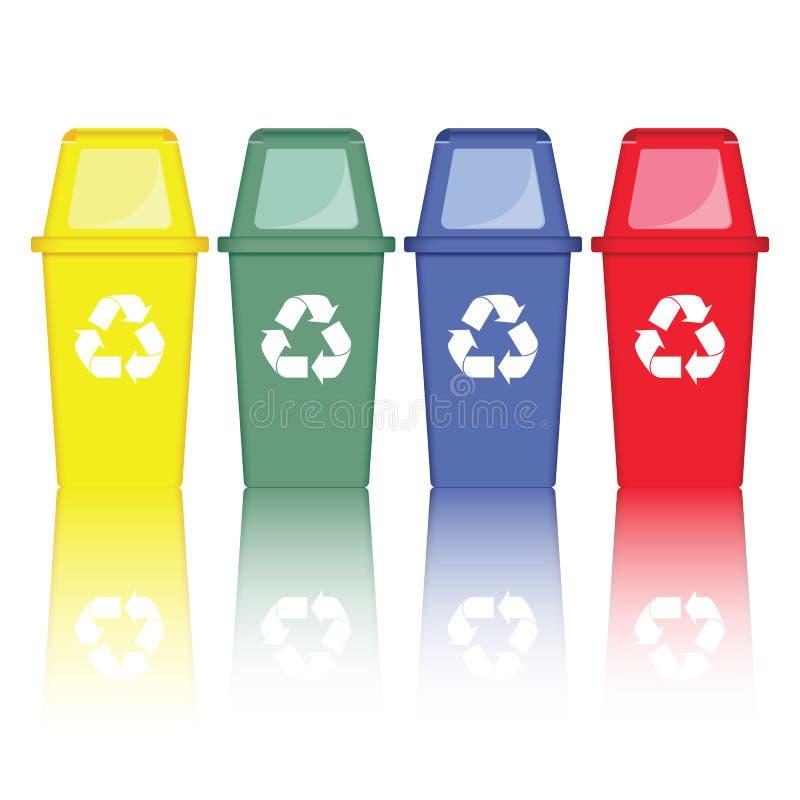 Vetor colorido dos reciclagens ilustração stock
