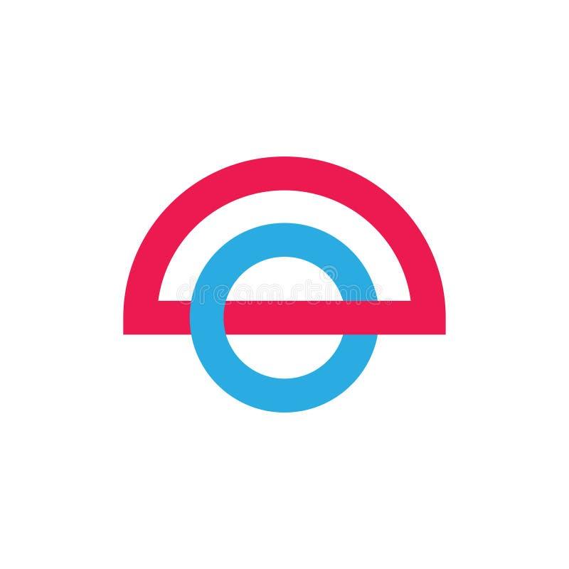 Vetor colorido ligado do logotipo do sumário do círculo ilustração royalty free
