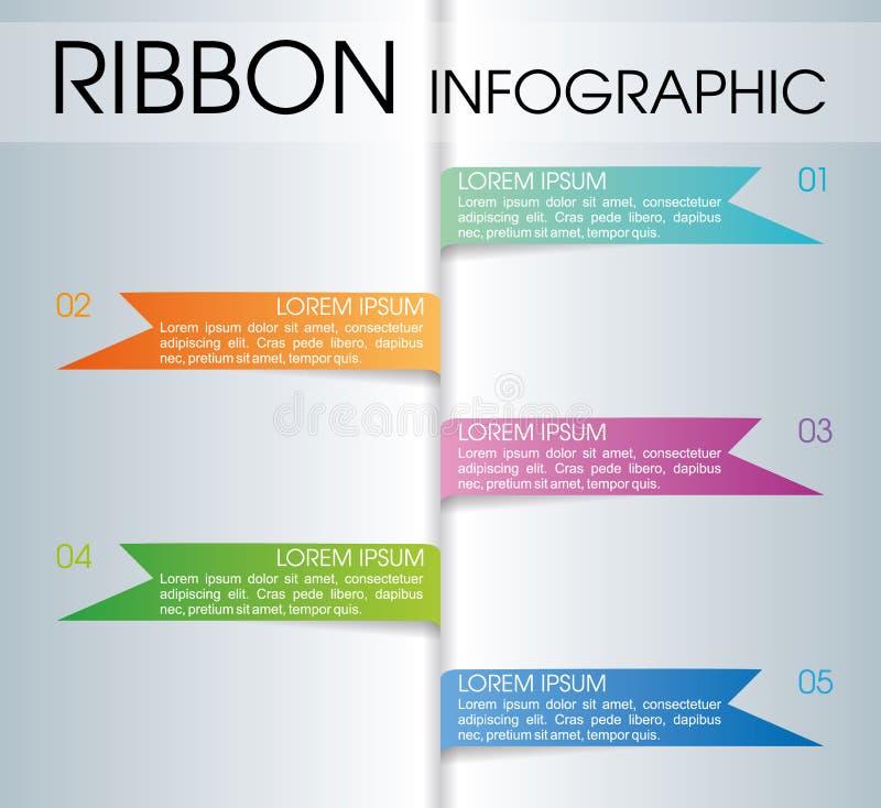 Vetor colorido moderno do molde das opções do infographics com colorf ilustração do vetor