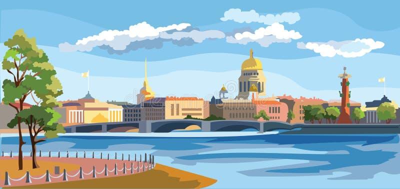 Vetor colorido St Petersburg 8 ilustração stock