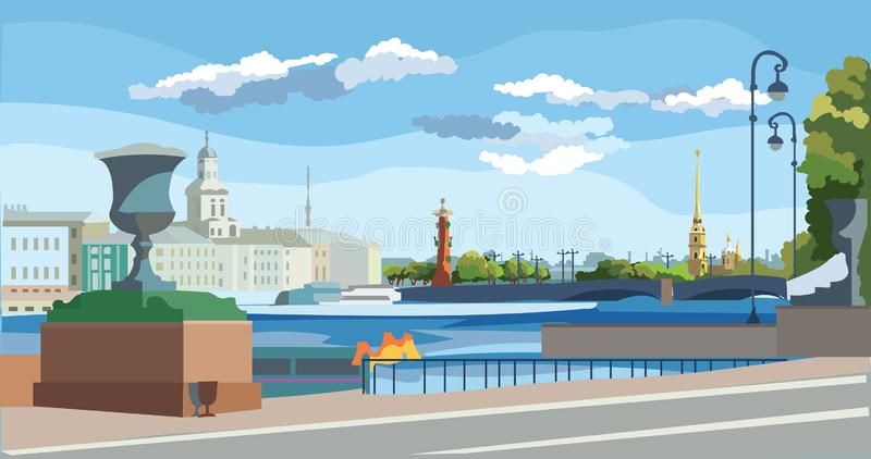 Vetor colorido St Petersburg 10 ilustração royalty free