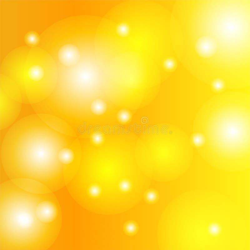 Vetor, conceito de Bokeh, círculo borrado, fundo do ouro fotografia de stock royalty free