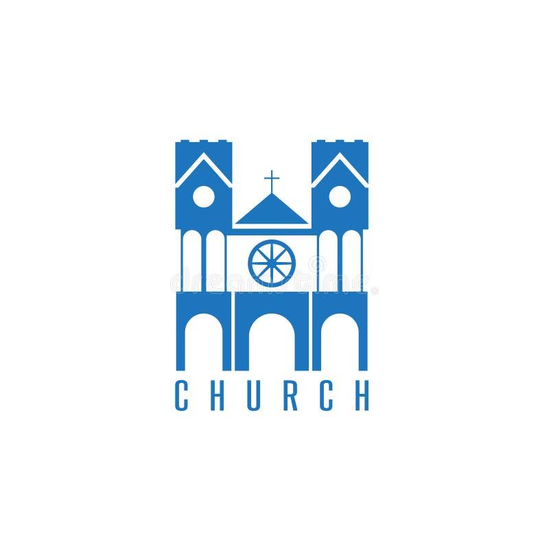 Vetor conceptual com construção colonial em um religioso ilustração royalty free