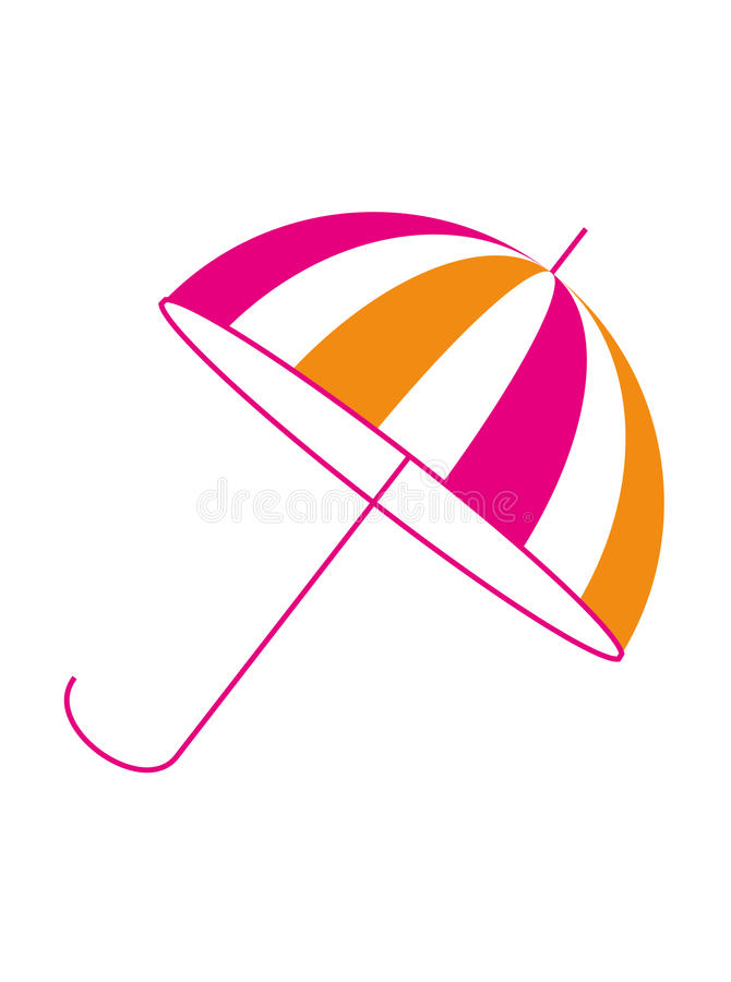 Vetor cor-de-rosa alaranjado do guarda-chuva de praia fotografia de stock