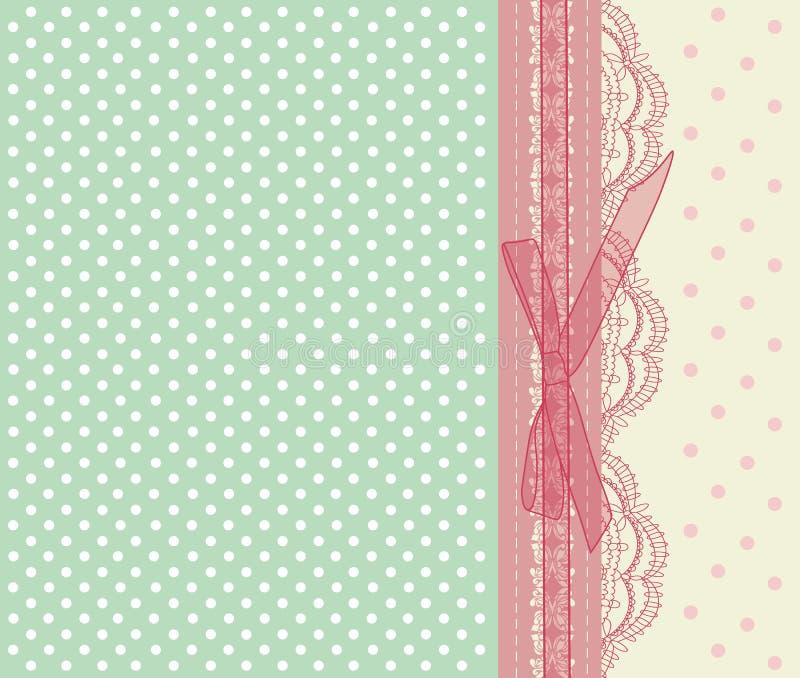 Vetor cor-de-rosa do cartão de casamento do vintage ilustração royalty free
