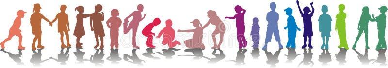 Vetor cor-isolado crianças ilustração do vetor