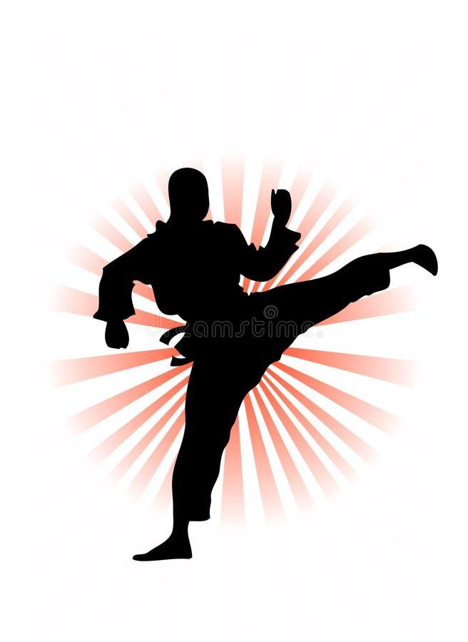 Vetor coreano do lutador do karaté ilustração do vetor