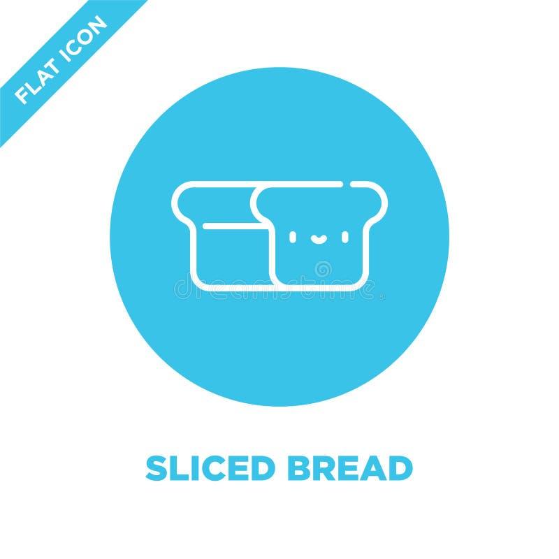 vetor cortado do ícone do pão Linha fina ilustração cortada do vetor do ícone do esboço do pão símbolo cortado do pão para o uso  ilustração do vetor