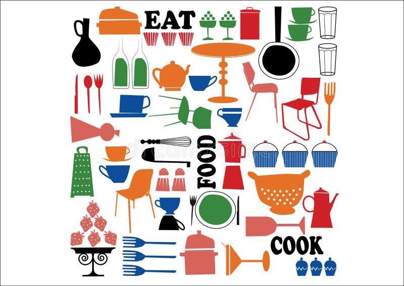 Vetor - cozinhando o elemento ilustração royalty free