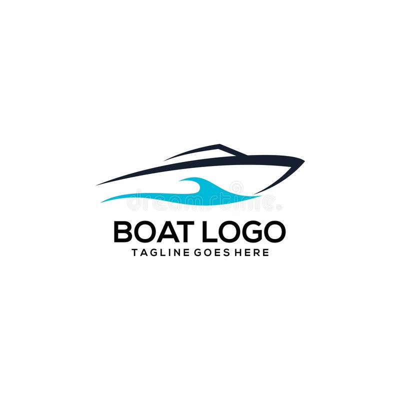 Vetor criativo Art Logo do projeto do logotipo do barco ilustração stock