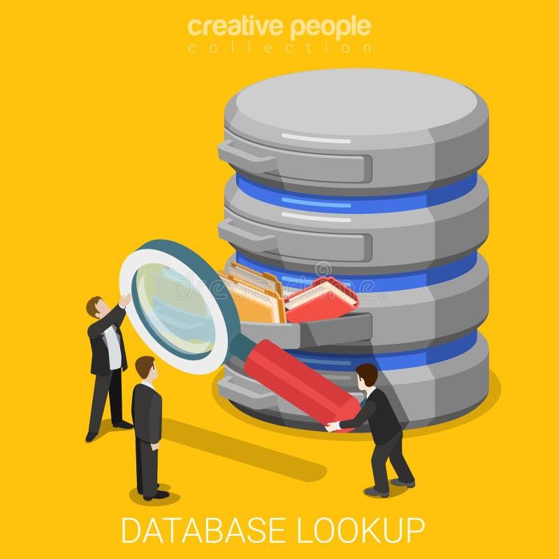 Vetor 3d liso do servidor de dados da busca da consulta da informação de base de dados ilustração do vetor