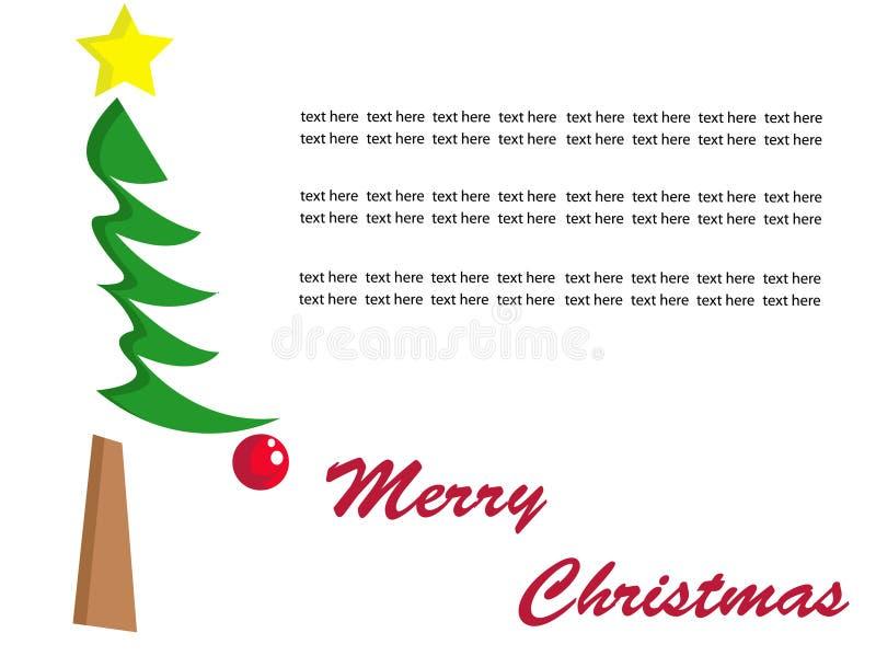 Vetor da árvore de Natal ilustração do vetor