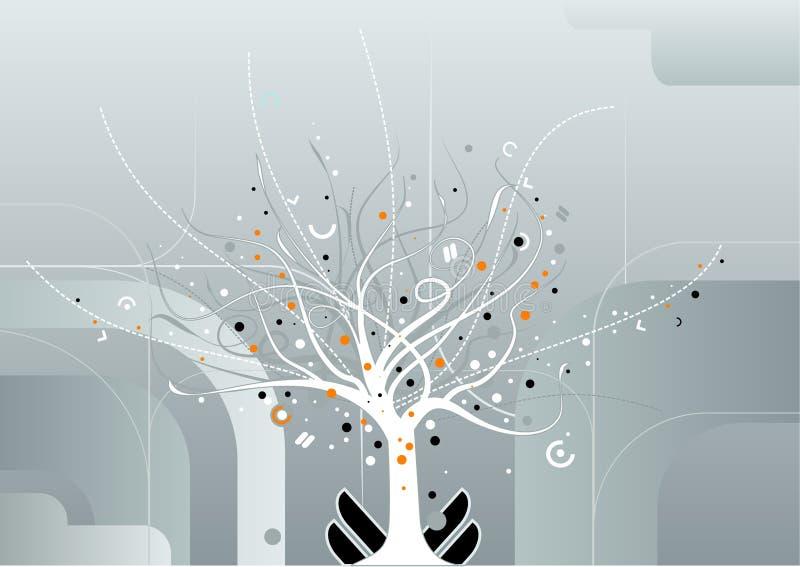 Vetor da árvore do milagre ilustração royalty free