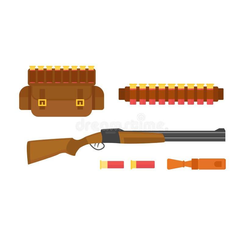 Vetor da arma da caça ilustração do vetor