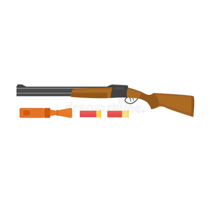 Vetor da arma da caça ilustração stock