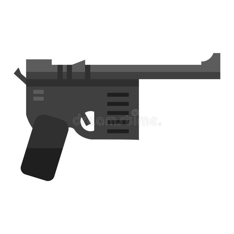 vetor da arma da pistola ilustração stock