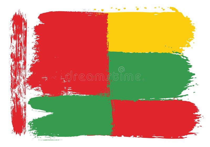 Vetor da bandeira de Bielorrússia & da bandeira de Lituânia pintado à mão com escova arredondada ilustração royalty free