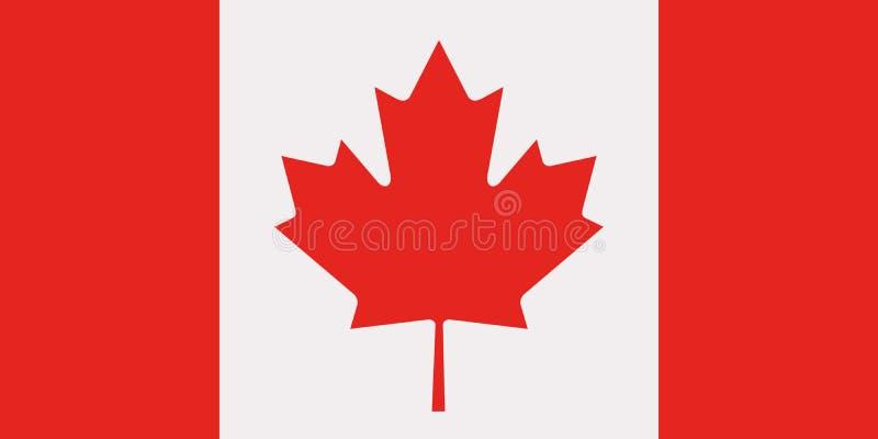 Vetor da bandeira de Canadá ilustração stock