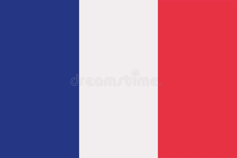 Vetor da bandeira de França ilustração stock