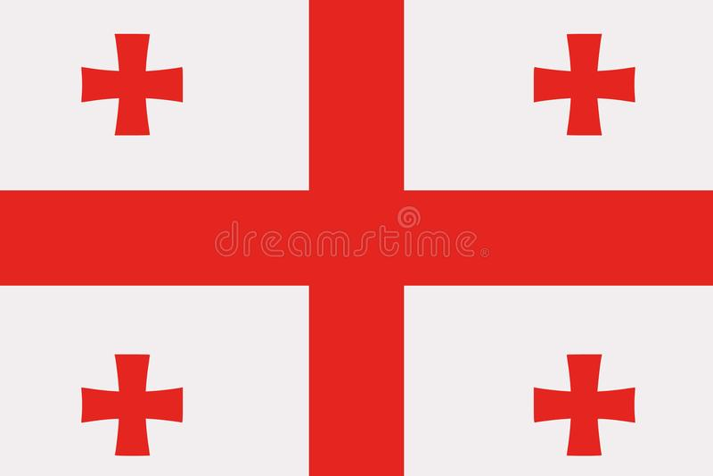 Vetor da bandeira de Geórgia ilustração do vetor