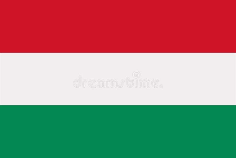 Vetor da bandeira de Hungria ilustração royalty free