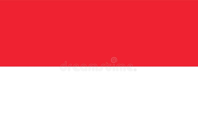 Vetor da bandeira de Indonésia Ilustração da bandeira de Indonésia ilustração royalty free