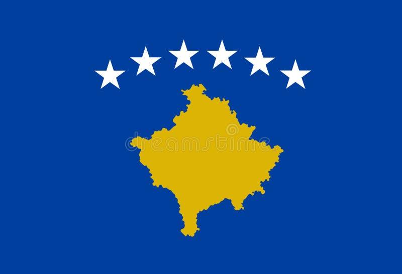 Vetor da bandeira de Kosovo Ilustração da bandeira de Kosovo ilustração do vetor