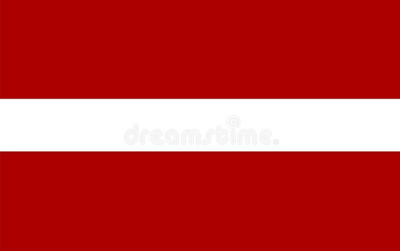 Vetor da bandeira de Letónia Ilustração da bandeira de Letónia ilustração stock