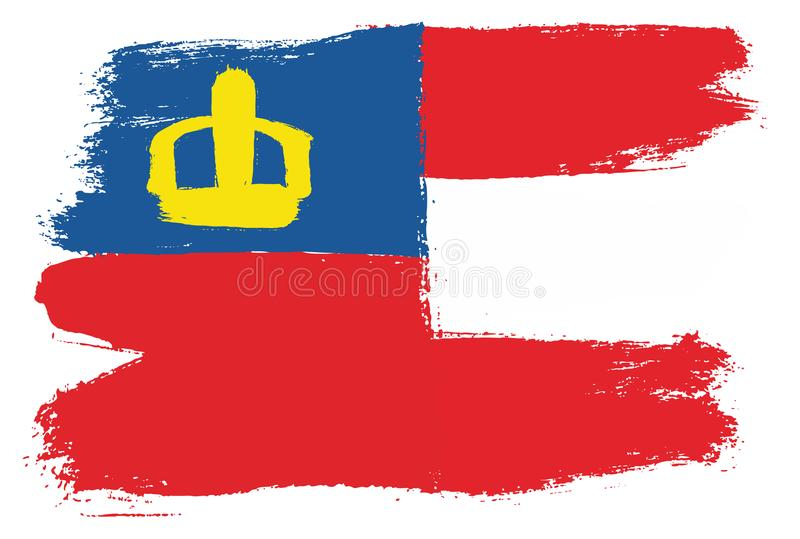 Vetor da bandeira de Liechtenstein & da bandeira de Áustria pintado à mão com escova arredondada ilustração stock