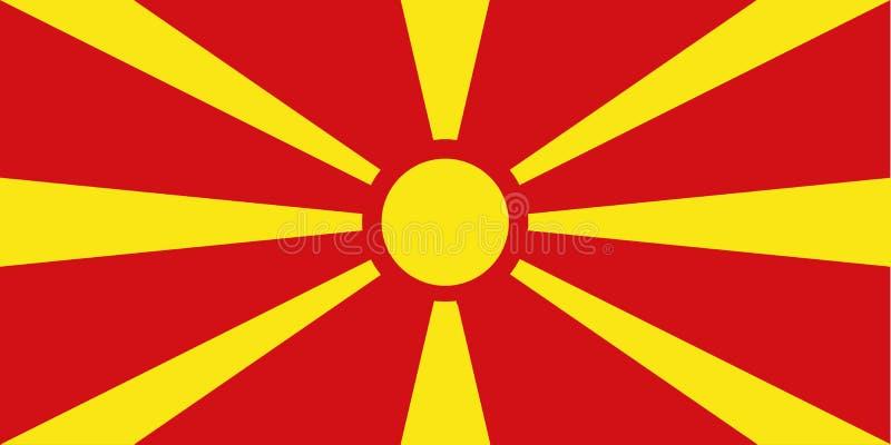 Vetor da bandeira de Macedônia ilustração royalty free