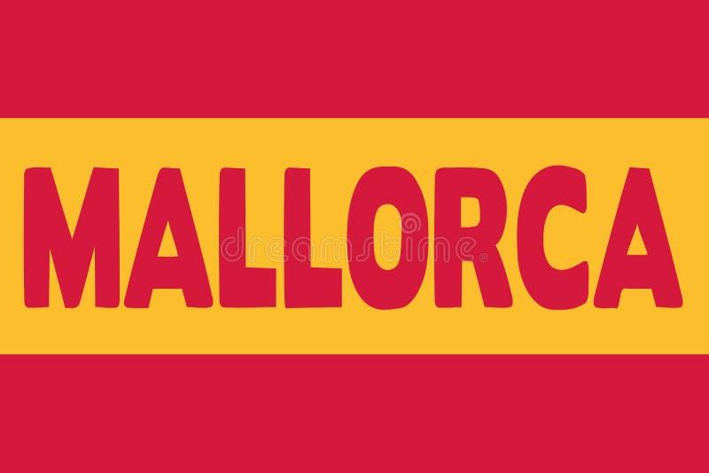 Vetor da bandeira de Mallorca ilustração royalty free