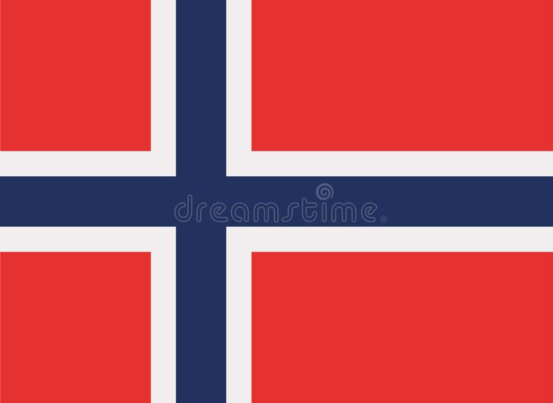 Vetor da bandeira de Noruega ilustração stock