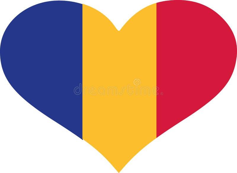 Vetor da bandeira de Romênia ilustração stock