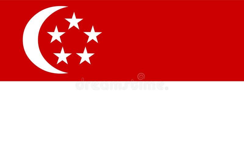 Vetor da bandeira de Singapura Illustartion da bandeira de Singapura ilustração do vetor