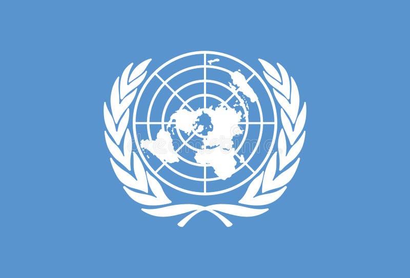 Vetor da bandeira de United Nations ilustração royalty free