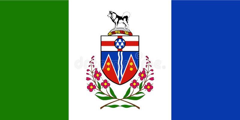 Vetor da bandeira de Yukon Bandeira civil e do estado do territ?rio yukon canad? ilustração stock