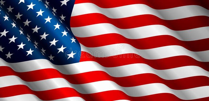 Vetor da bandeira do Estados Unidos ilustração stock