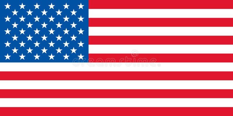 Vetor da bandeira dos EUA ilustração royalty free