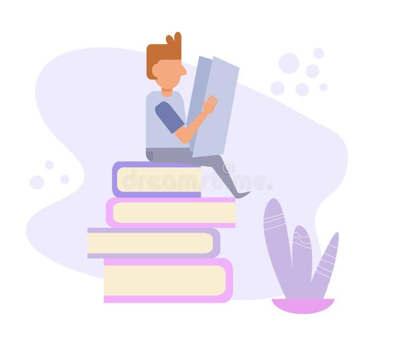 Vetor da biblioteca cartoon Arte isolada no fundo branco ilustração stock