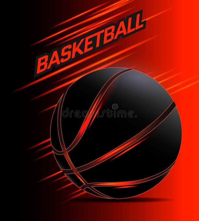 Vetor da bola do basquetebol ilustração royalty free