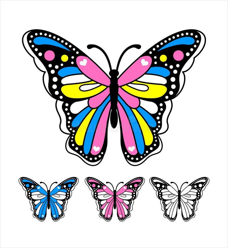 Vetor 3 da borboleta ilustração royalty free
