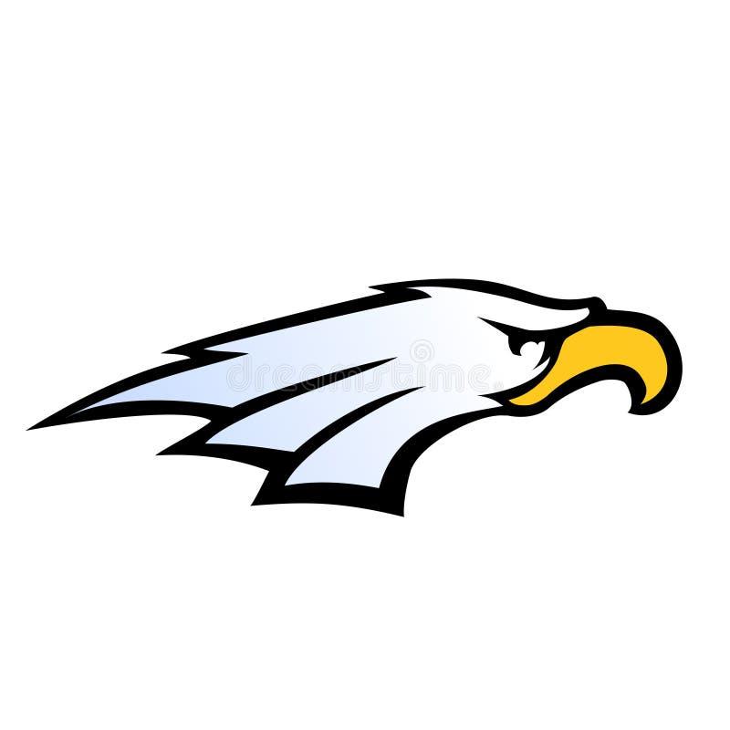 Vetor da cabeça da águia do estilo da equipe de esporte ilustração stock