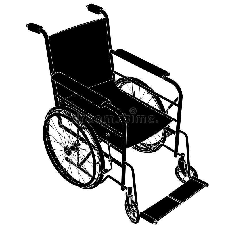 Vetor da cadeira de rodas ilustração do vetor