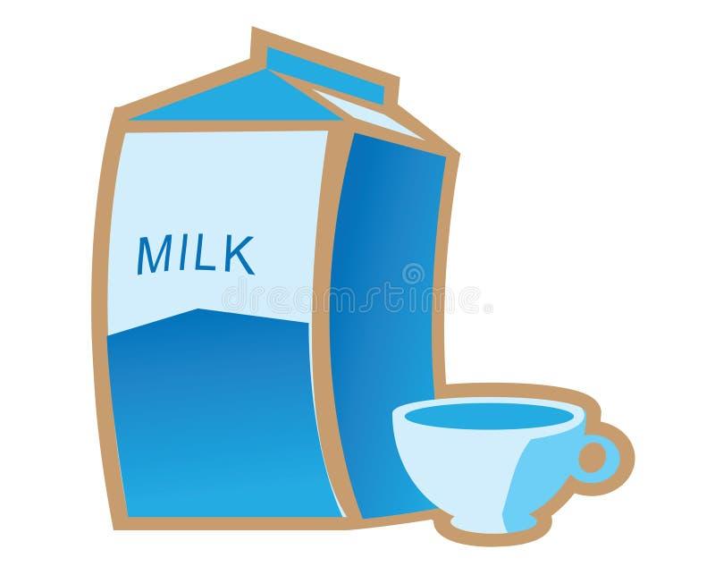 Vetor da caixa da caixa do vidro de leite ilustração do vetor