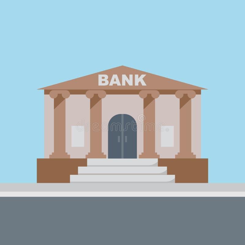 Vetor da construção de banco ilustração royalty free